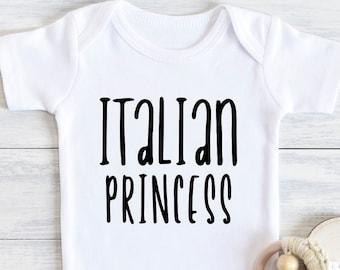 boy girl baby shower gift Nonna T-shirt tee Italian bodysuit clothes outfit Nonni bambino Italy light of my eyes Zio Nonno Zia