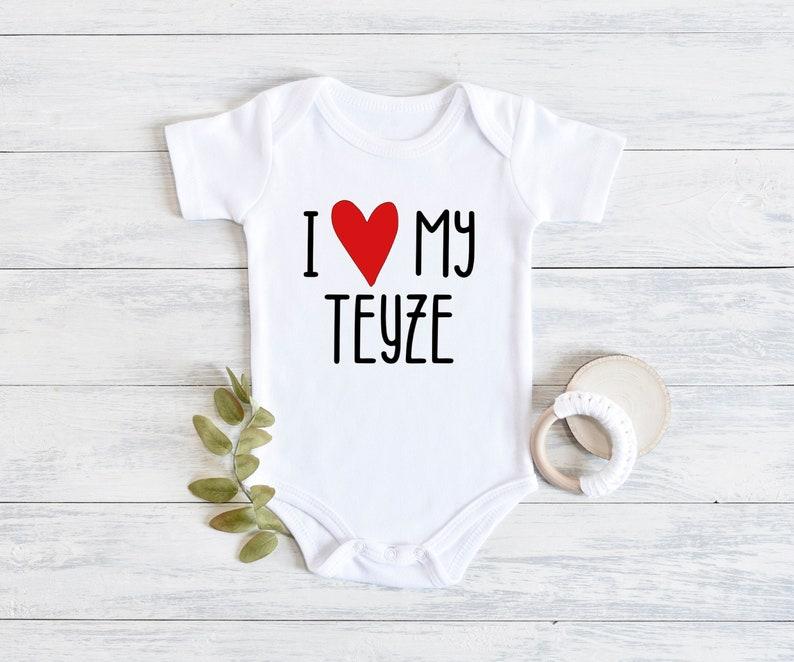 b\u00fcy\u00fckanne b\u00fcy\u00fckbaba Aunt baby boy girl bodysuit Turkish I love my Teyze onesie amca baby shower gifts Khala Zia Thea seni seviyorum