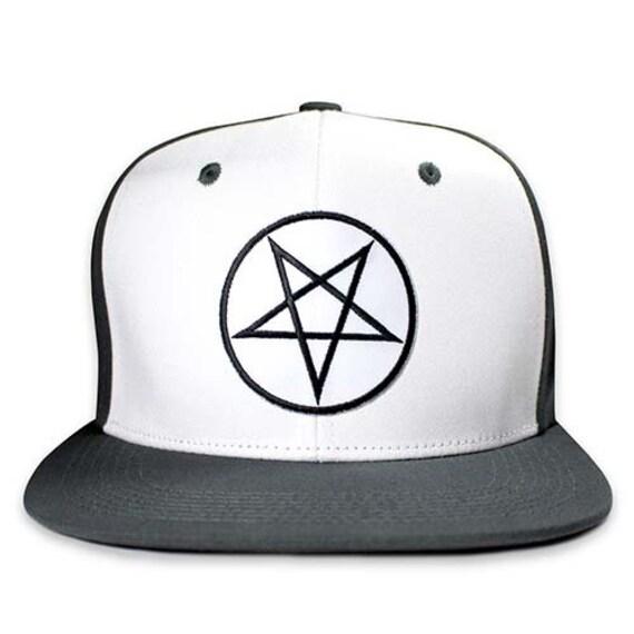 Pins   Bones Pentagram Snapback Hat Wool Blend Two Tone One  23873c001c5