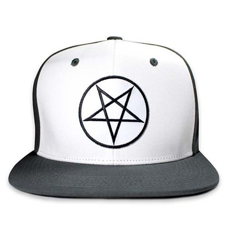 97db9018b0ead Pins   Bones Pentagram Snapback Hat Wool Blend Two Tone One
