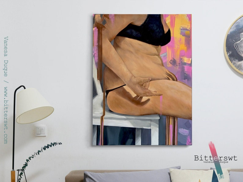 Acrylic painting Overflowing bodies image 0