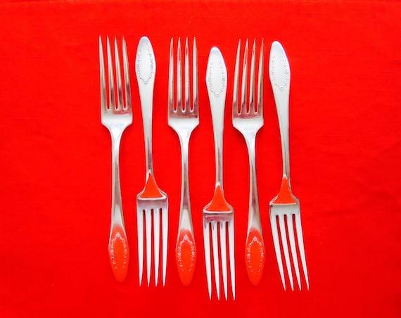 6 ANTIQUE PELHAM 1919 SILVER Dinner Forks /& 6 Dinner Knives by Cambridge Silver Company Antique Flatware