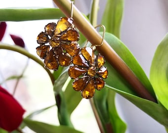 Amber Ear Baubles