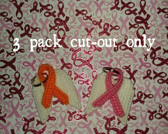 plastic canvas ribbon wing cut outs.  3 pack