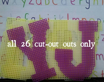 Large alphabet letter cut outs.= all  26