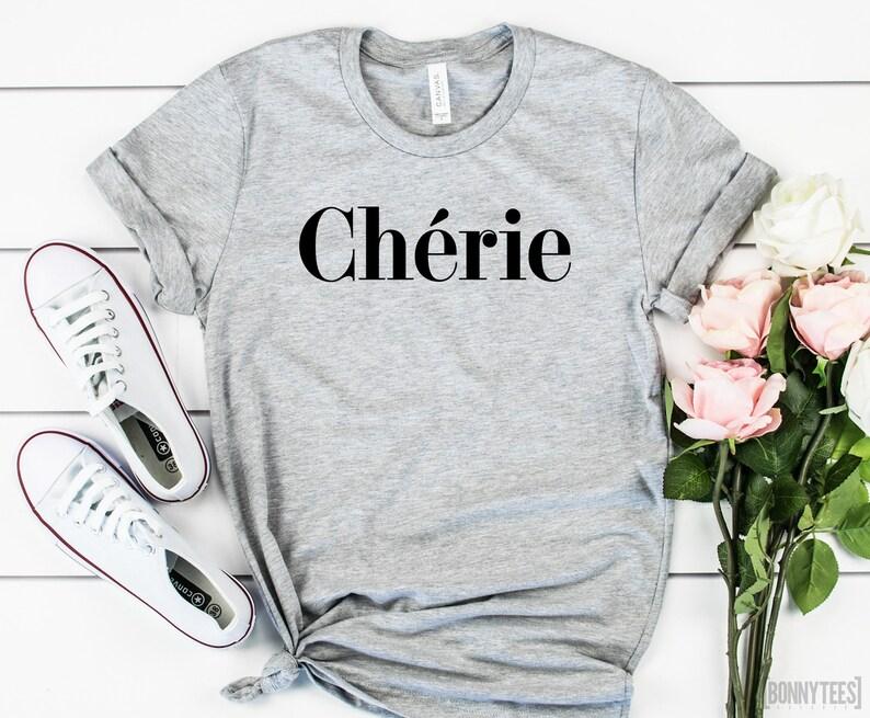 8a5eb5d0 Cherie T-Shirt French Shirt Darling Shirt Funny Shirt | Etsy