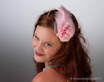 Fascinator Apricot Pastel Satin Headdress Gold Hair Etsy