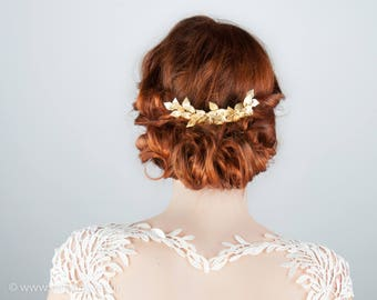 Bridal Hair Accessoires, Vintage Wedding, Woodland Bride, Prom Hair, Greek Goddess, Wedding Hair Accessories, Bridal Hair Comb Gold, 2018