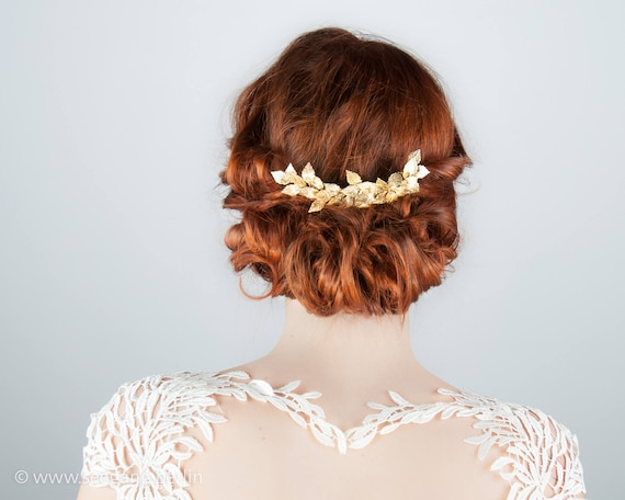 Bridal Hair Accessoires Vintage Wedding Woodland Bride Prom Etsy