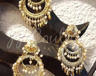 Designer Bollywood Polki Earrings Kundan Earrings Gold Earrings Indian Jewelry Bollywood Jewellery Jhumki Earrings Indian Bridal