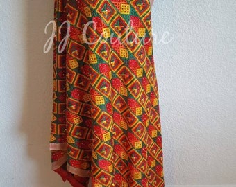 Designer Bollywood Multicolored Phulkari Dupatta Indian Fashion Bollywood Fashion Multicolored Thread Dupatta
