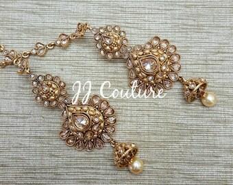 SALE Designer Bollywood Polki Earrings Gold Polki Earrings Round Earrings Indian Jewellery Bollywood Jewelry Indian Bridal Jewelry