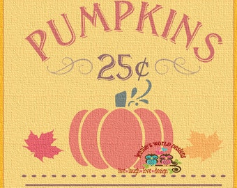 25 cent Pumpkin - Fall Country - SVG/DXF/PNG - Cut - studio - Cricut, Studio, Printable File, halloween, fall, thanksgiving