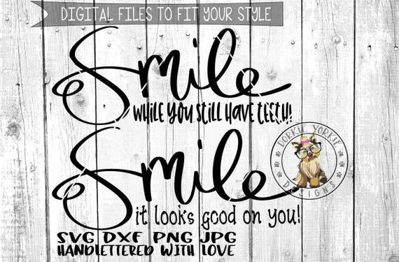 Sweet Salty Collection Smile Hand Lettered Svg Dxf Etsy