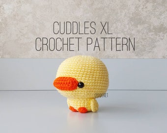 PATTERN ONLY - Cuddles XL the Yellow Duck Crochet Pattern, duck plush , duck crochet pattern, yellow duck, baby duck crochet, quack
