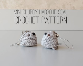 PATTERN ONLY - Mini Chubby Harbour Seal Crochet Pattern , seal crochet pattern, seal amigurumi, DIY seal keychain, harbour seal, chubby seal