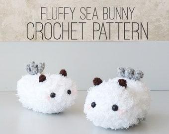 PATTERN ONLY - Fluffy Sea Bunny, Sea Bunnies, Sea Slug, Jorunna parva, Cute Slug, Slug, Ocean, Nudibranch, Adorable Sea Slug, Bunny, Bunnies