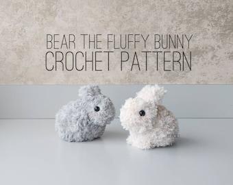 PATTERN ONLY - Bear the Fluffy Bunny Crochet Pattern, fluffy bunny, bunny, bunnies, rabbit, rabbits, crochet bunny, crochet rabbit, cute bun