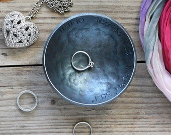 6th Anniversary gift for her Jewellery bowl for wife and husband 1 Iron Bowl personalized ring dish gift for iron wedding anniversary