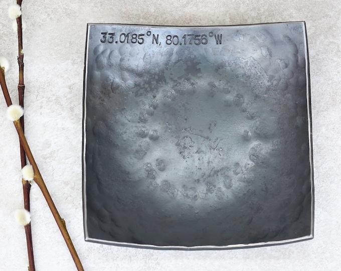 Steel Anniversary Square Bowl