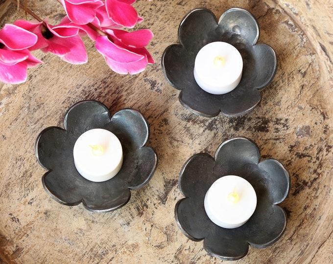 Handmade Flower Candle Holders