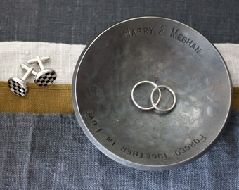 6th Anniversary Iron Ring Dish for Him