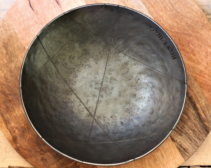 Extra Large Geometric Design Iron Bowl