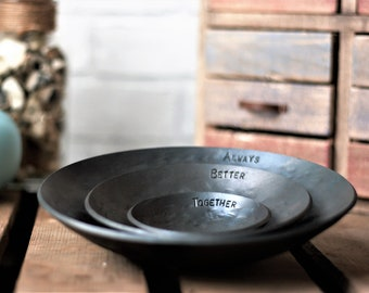 Set of 3 Iron Bowls