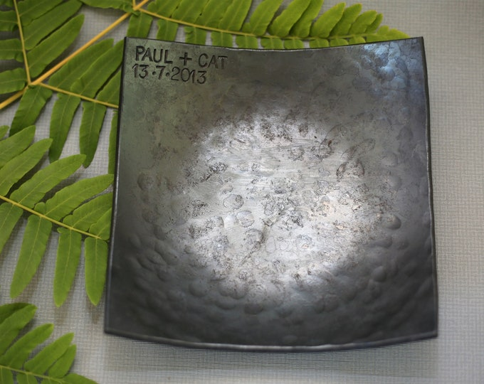Steel Anniversary Square Bowl