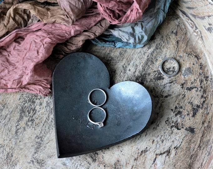 Iron Heart Wedding Ring Dish