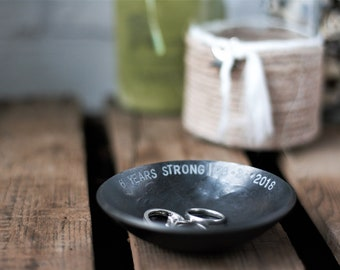 Small Metal Bowl with Custom Text
