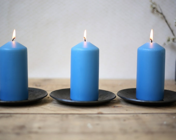 Three Iron Candle Dishes