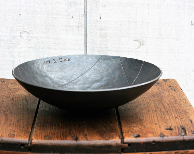 Extra Large Geometric Design Iron Bowl