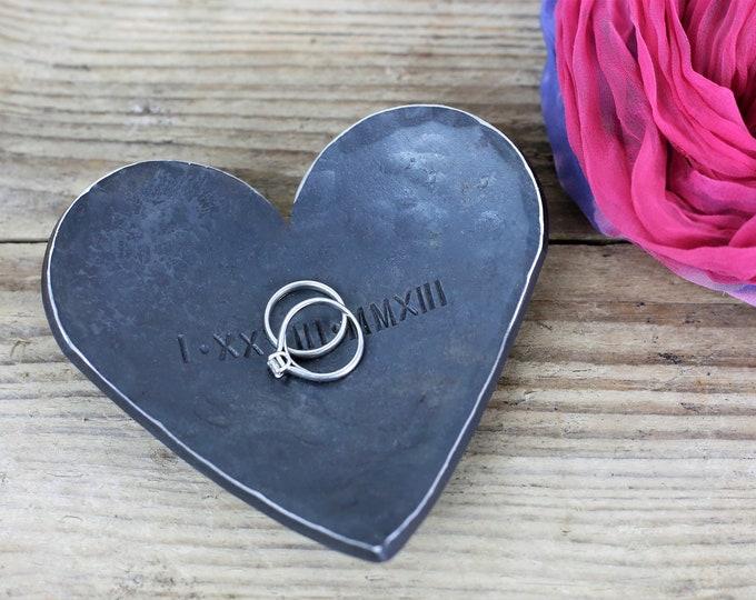 Steel Anniversary Heart Dish