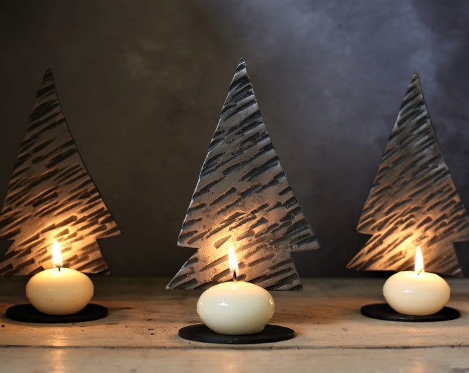 Festive tree candle holder