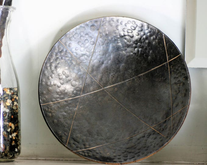Decorative Metal Bowl with Bronze Infused Wax Patina