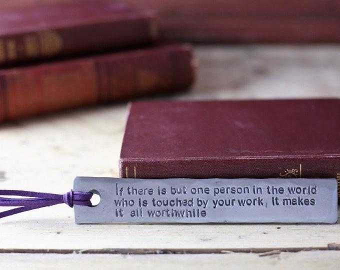 Custom Steel Bookmark
