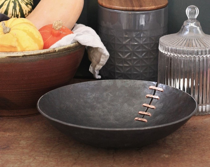 6th Anniversary Gift Iron and Copper Bowl