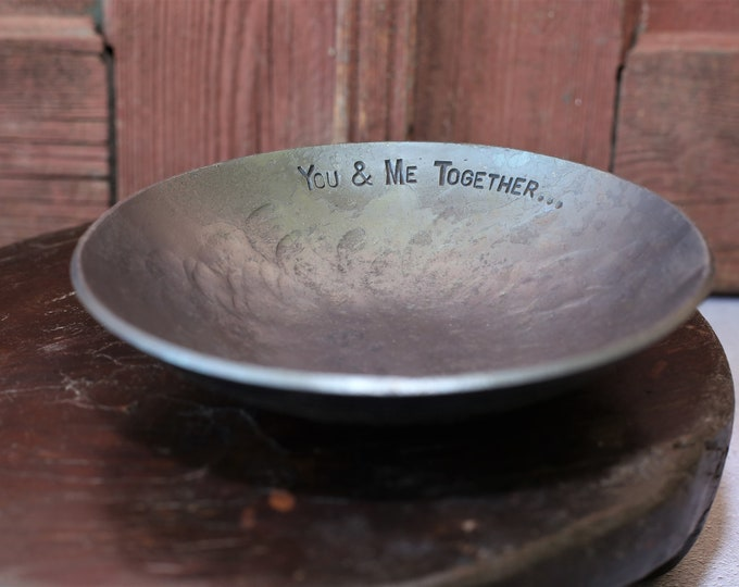 "6"" Personalised Iron Bowl House Warming Gift"