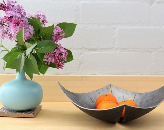 Sculptural Iron Bowl - Contemporary Centerpiece
