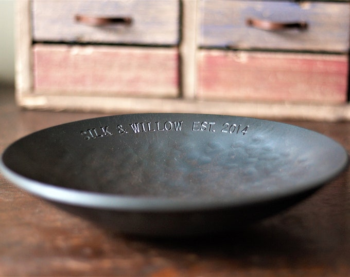 Large Customised Iron Bowl