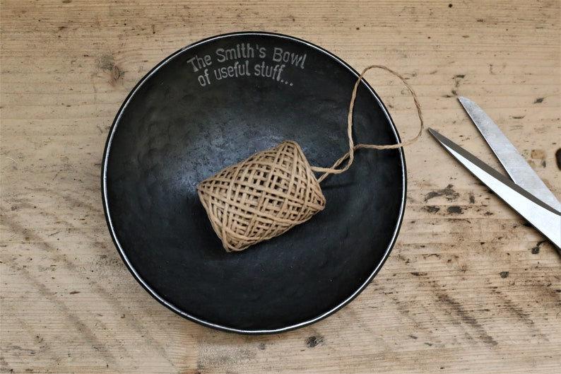 Personalized Valentine Gift Catch all dish for home Metal image 0