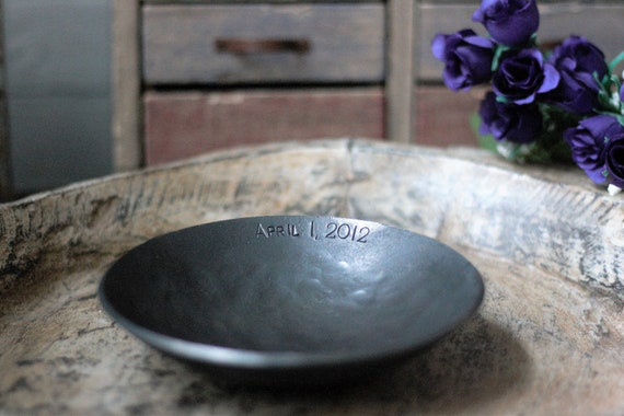 6th Anniversary Wedding Gift Iron Bowl Personalized Hand