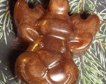 Hazelnut Santa Reindeer Artisan Soap Handmade Glycerin Vegan Organic All Natural Stocking Stuffer Gift For Her Gift For Him Christmas Gift