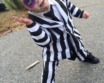 Beetlejuice Costume Toddler Etsy