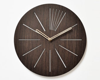 unique wall clocks 40 cm - 16 in  | wooden wall clock | modern wooden clock  | designer wall clock |  decorative clock |