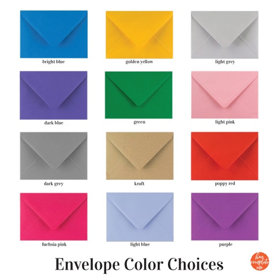 Craft UK C6 A6 Bright Coloured Cards and Envelopes Stock Clearance