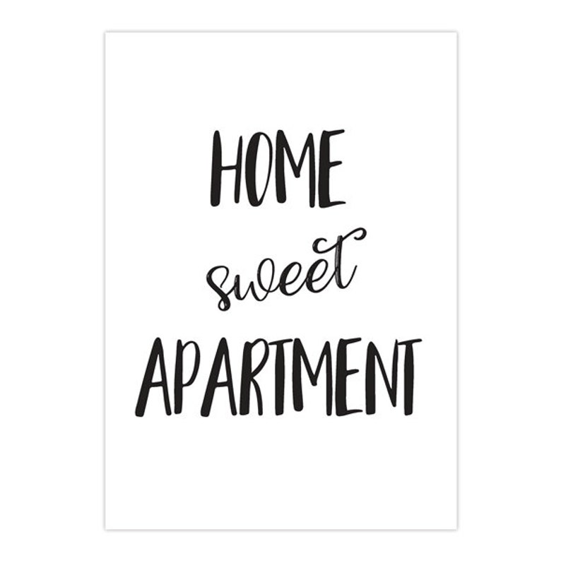 Home Sweet Apartment Apartment Wall Art Apartment Decor Apartment Art Print New Apartment Gift Apartment Wall Decor First Apartment Gift