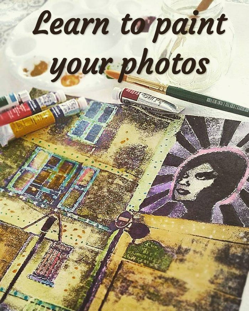 Easy Guide to painting Photos  : PDF Tutorial INSTANT image 0