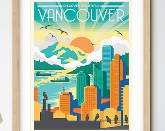 Discover Vancouver Travel Poster